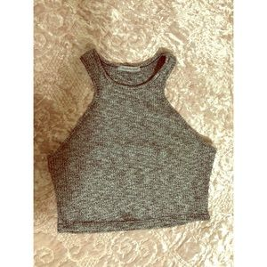 Charlene Russe grey crop top